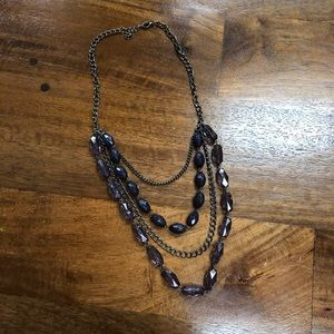 Blue Tiered Necklace